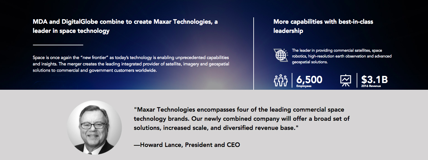 Maxar Technologies declared the financial results for Q3