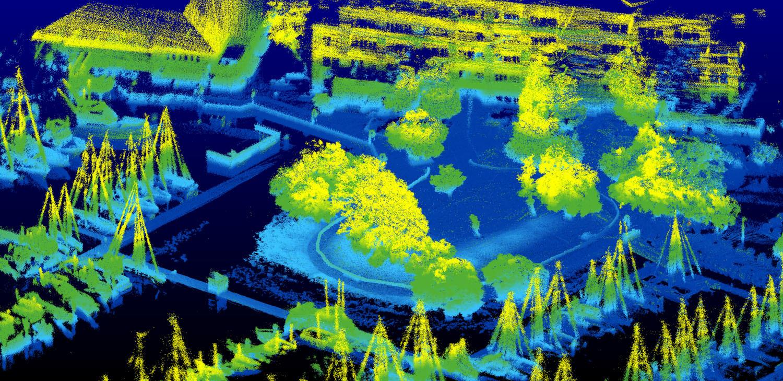 Image captured with a LiDAR sensor