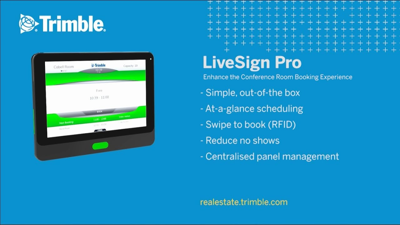 Trimble announces the availability of LiveSign Pro Touch Panels
