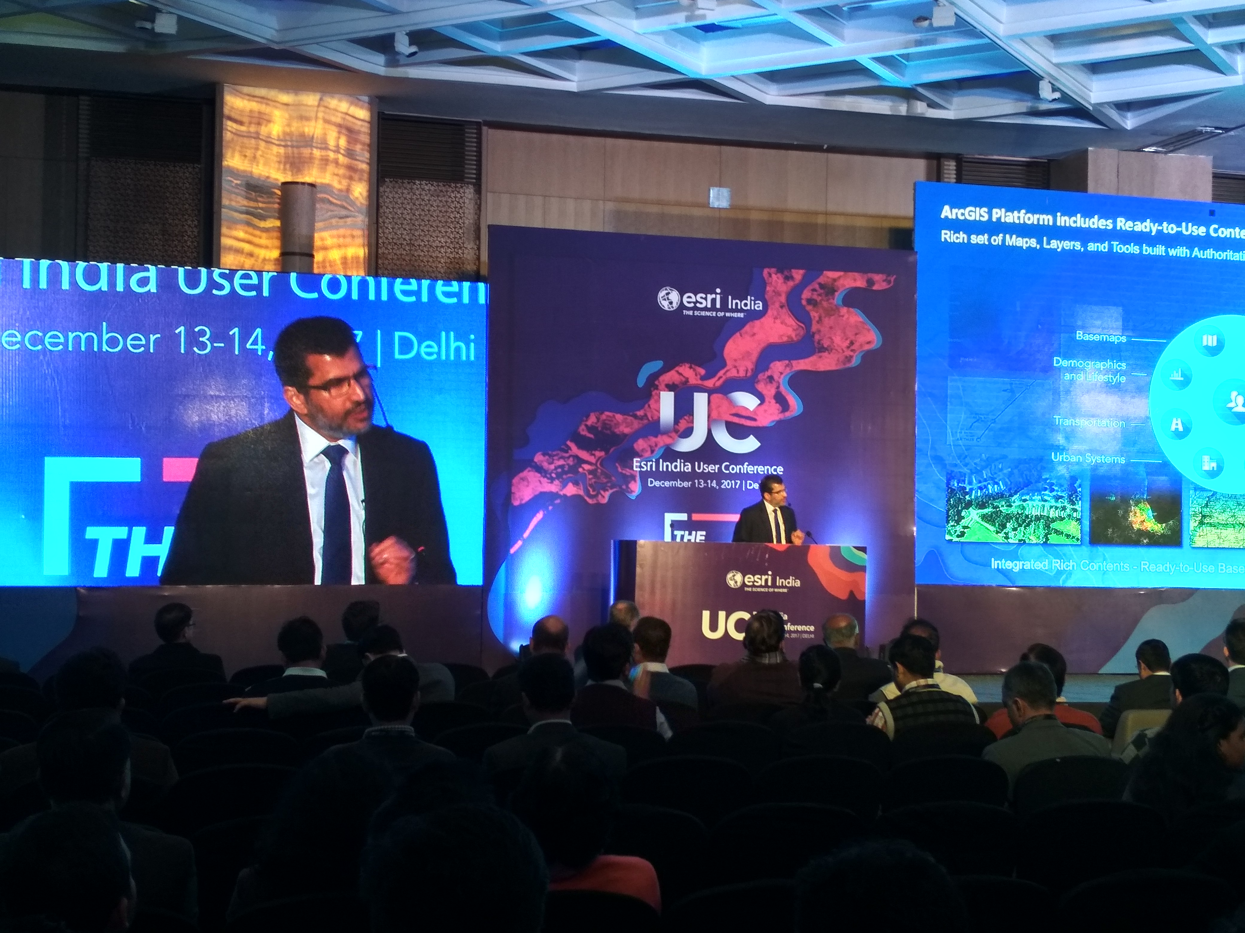 Agendra Kumar speaking at the Esri UC 2017
