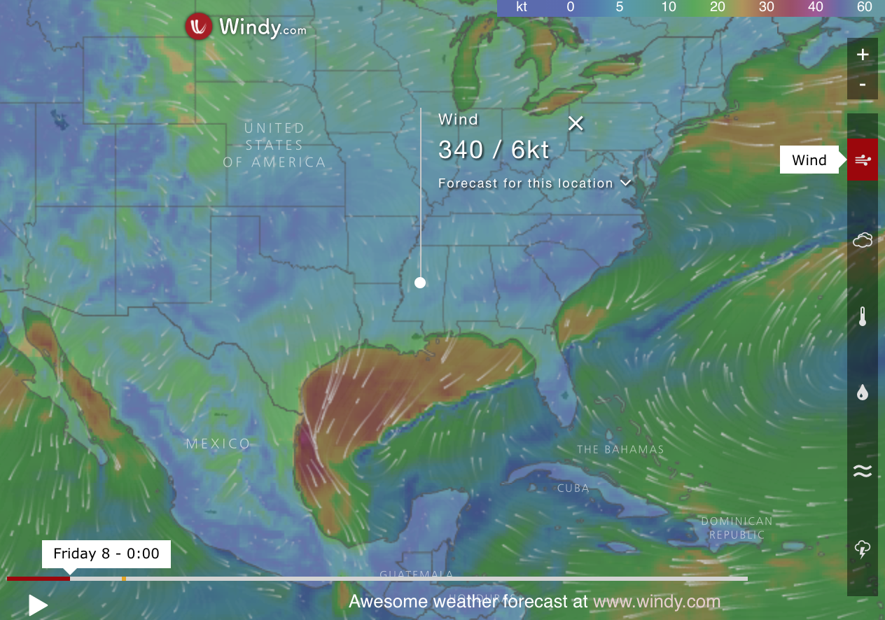 Ocean Weather Map.Windy Interactive Map Check Out Wind Speed Cloud Density Pollution
