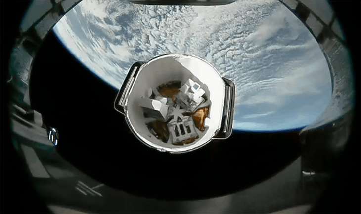 SpaceX capsule back at space station with holiday haul
