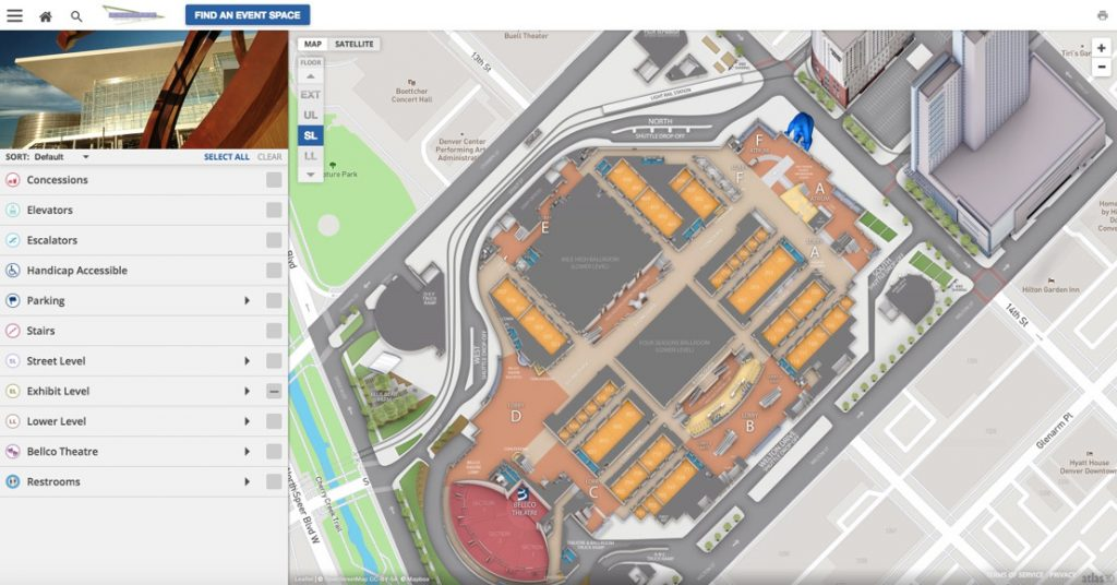 Concept3D Powering Colorado Convention Center's Interactive 3D Map