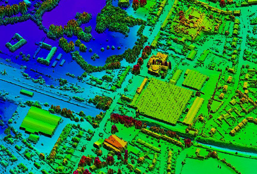 Aircraft equipped with laser scanners will map the entire England in 3D