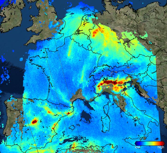 Sentinel 5p air pollution