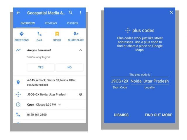 Google Maps silently rolls out plus codes, an interesting