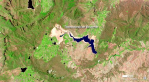 Satellite image of Cape Town's water crisis