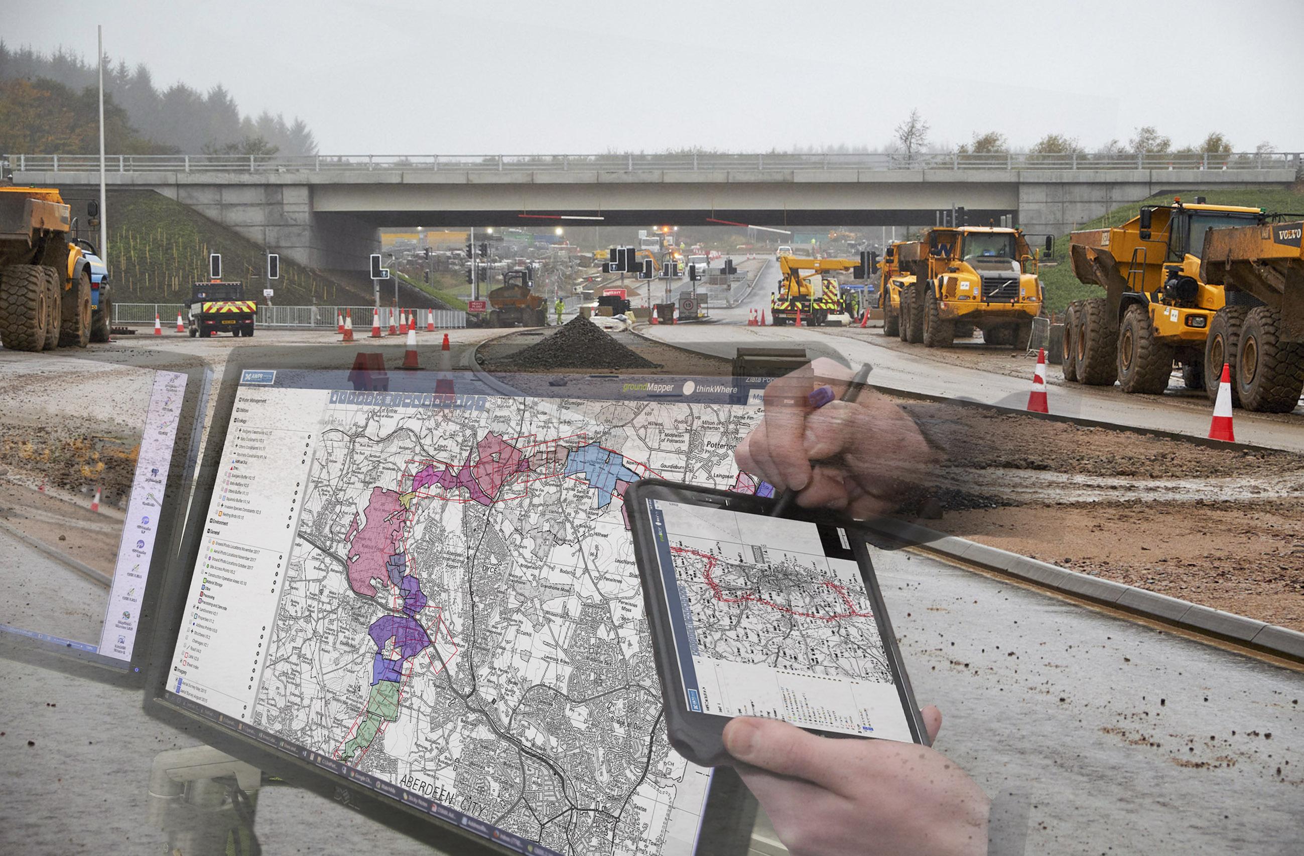 thinkWhere online mapper connects Transport Scotland's Aberdeen