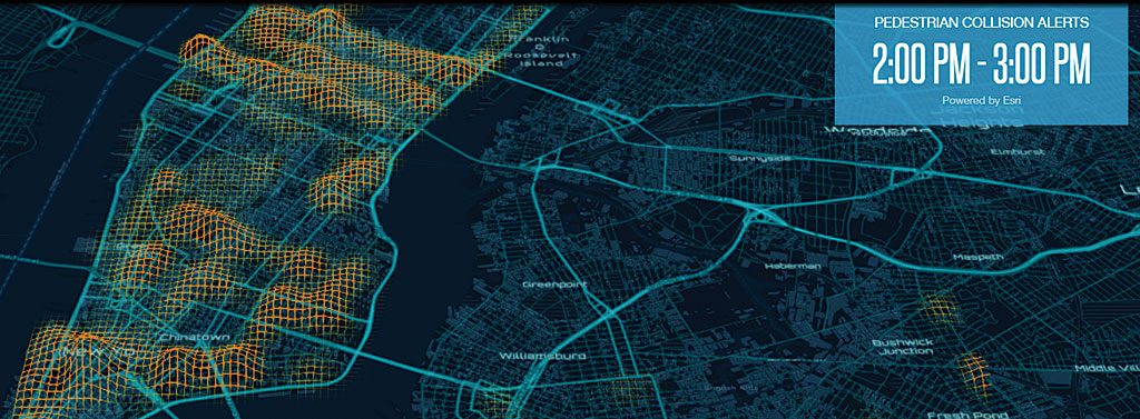 Esri and Mobileye collaborate to improve road safety for pedestrians in urban environments