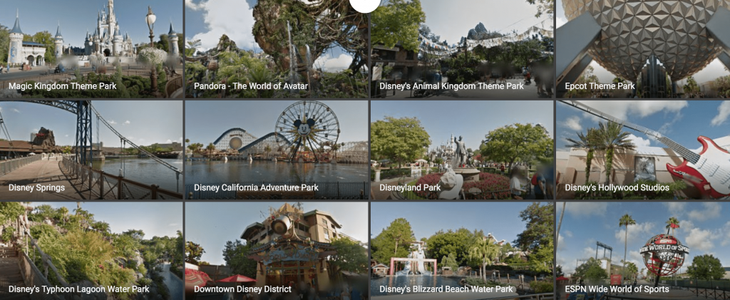 Google Maps is now out free virtual tours of Disney Parks on