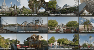 Google Maps - free virtual tour of Disney Parks