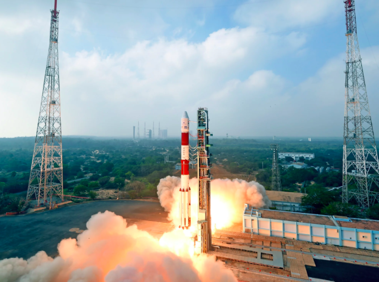 PSLV-C40 successfully launched ISRO's 710 kg Cartosat-2 Series satellite and 30 co-passenger satellites together weighing about 613 kg at lift-off on January 12, 2018