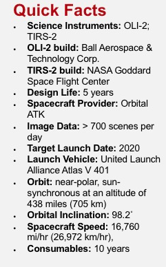 Landsat 9 quick facts