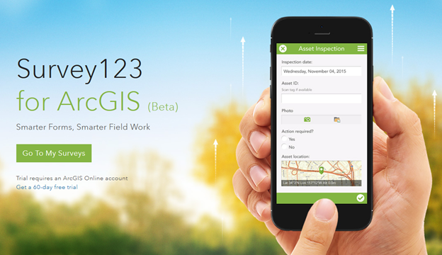 Esri announced the new software release of Survey123 for ArcGIS mobile application with Spike.