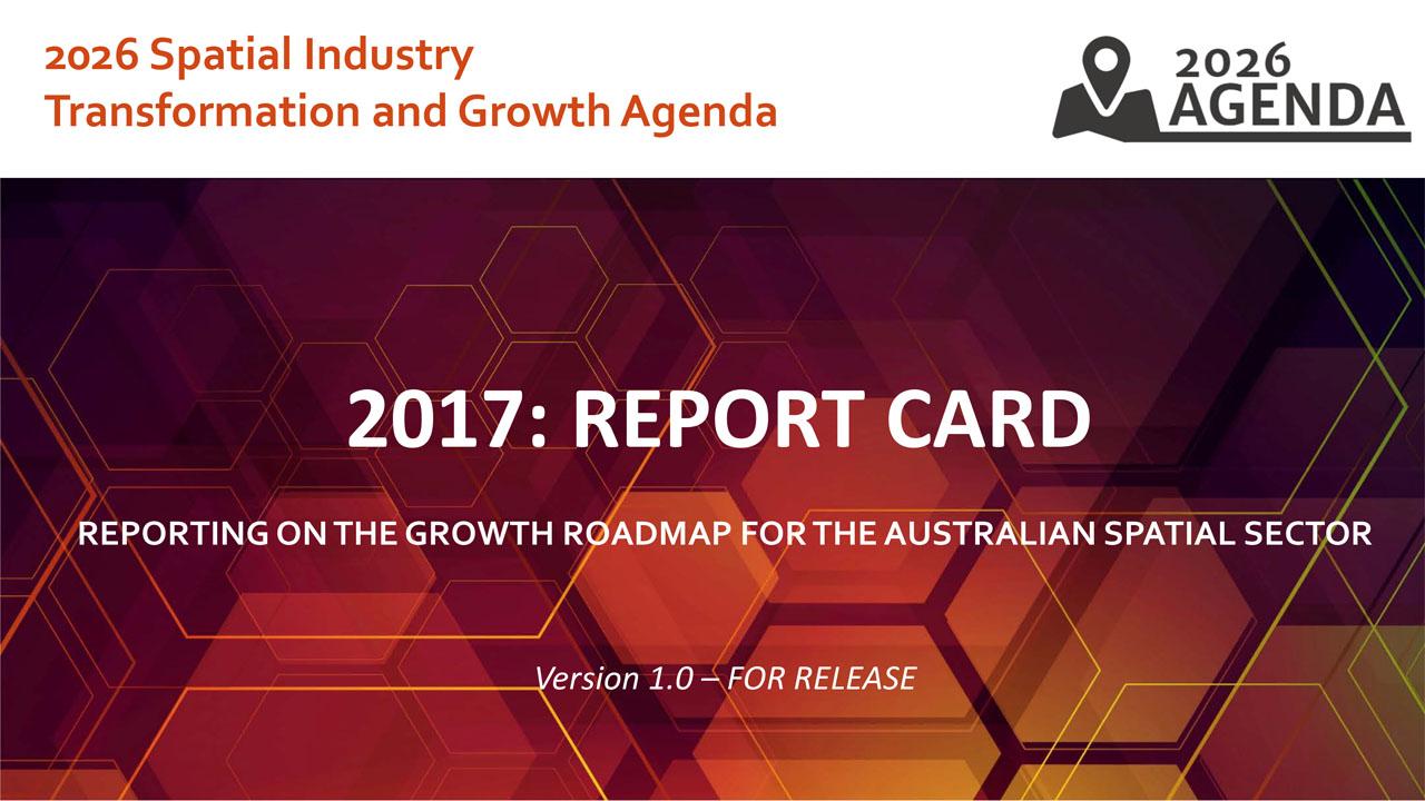 eport card of 2026 Spatial Agenda