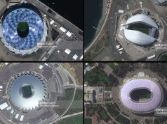 satellite images of FIFA 2018 stadiums