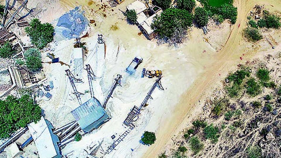 Drone mapping finds unauthorized sand mining in Aravallis
