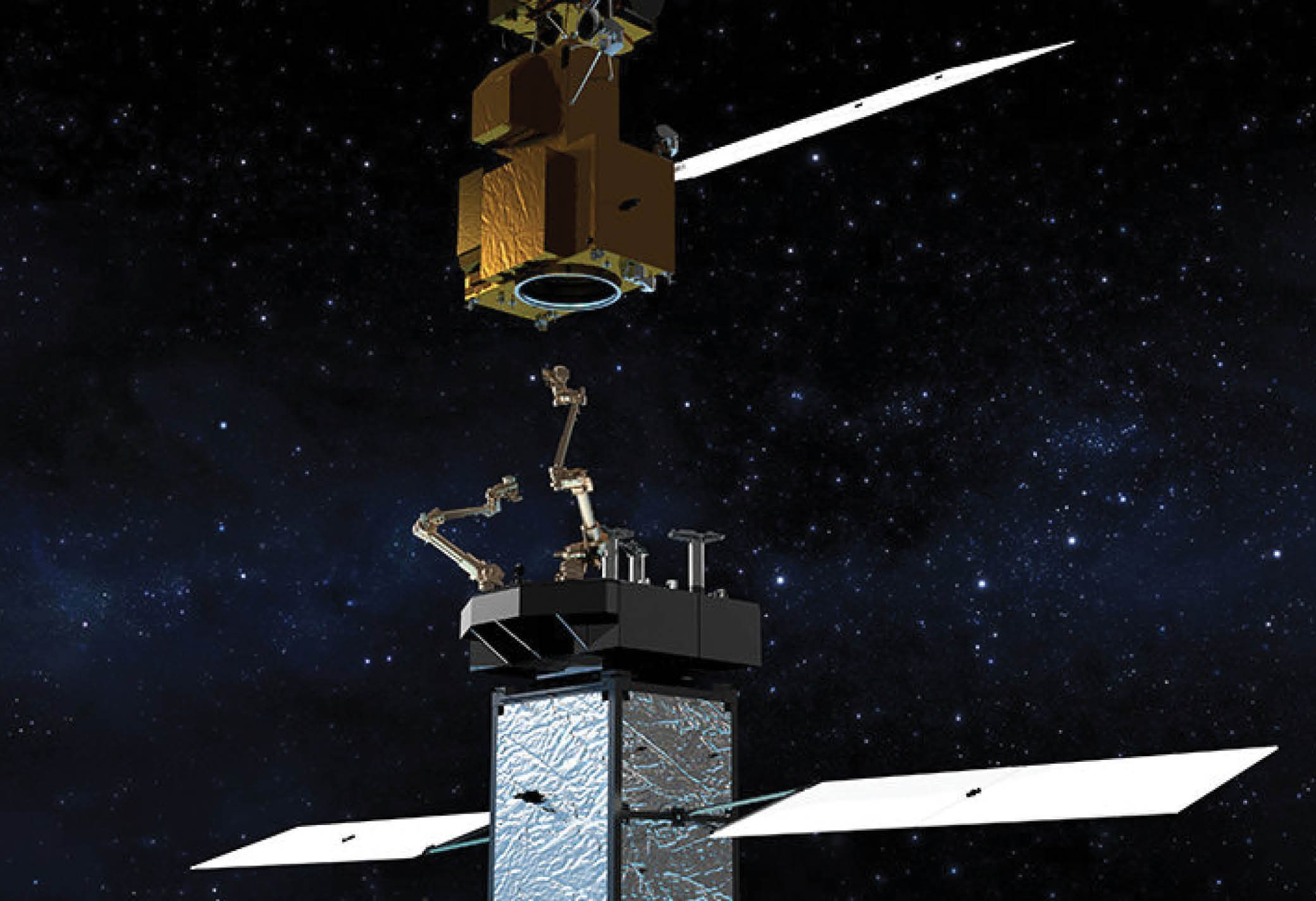 On-orbit satellite servicing benefits and challenges
