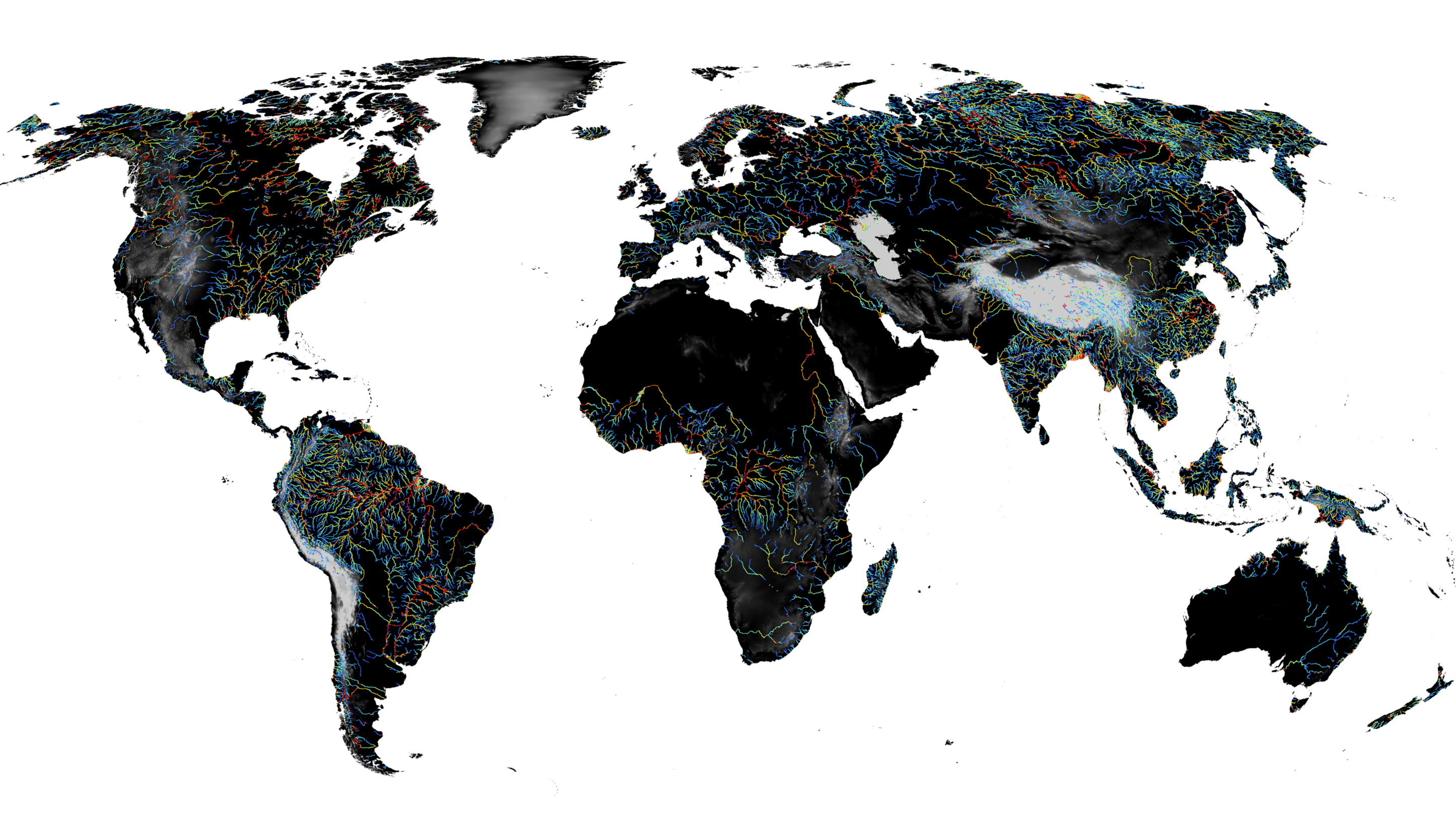 Satellite imagery shows surface area of rivers and streams ... on zoom world map, nasa world map, cricket world map, topographic world map, weathered world map, pangea map, china coal power plants map, neon world map, glaciers on world map, solar world map, blue world map, hd world map, telecom world map, endangered animals around the world map, footprint world map, security world map, digital world map, ham radio world map, planet world map,
