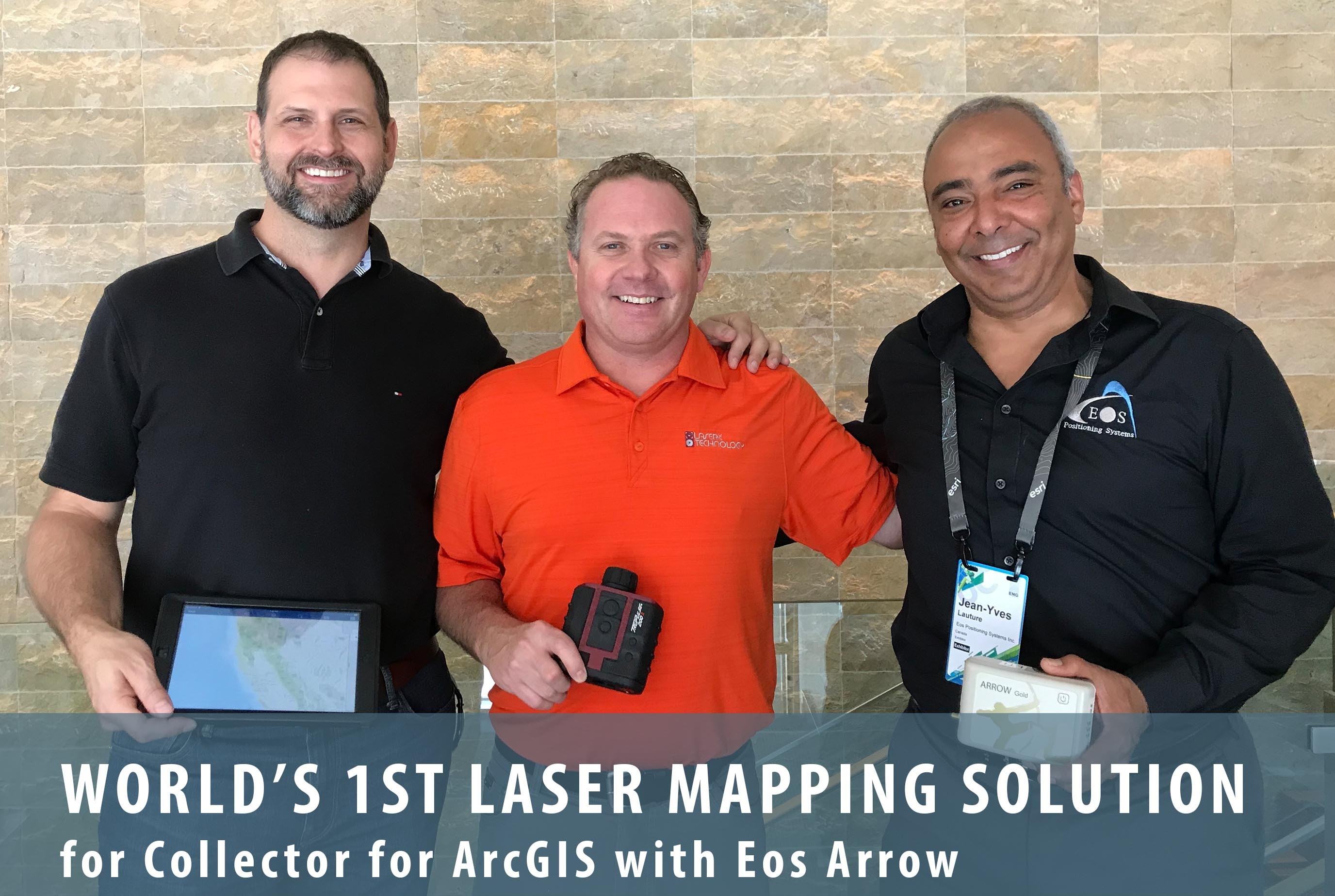 Eos, LaserTech and Esri introduce laser mapping workflow for
