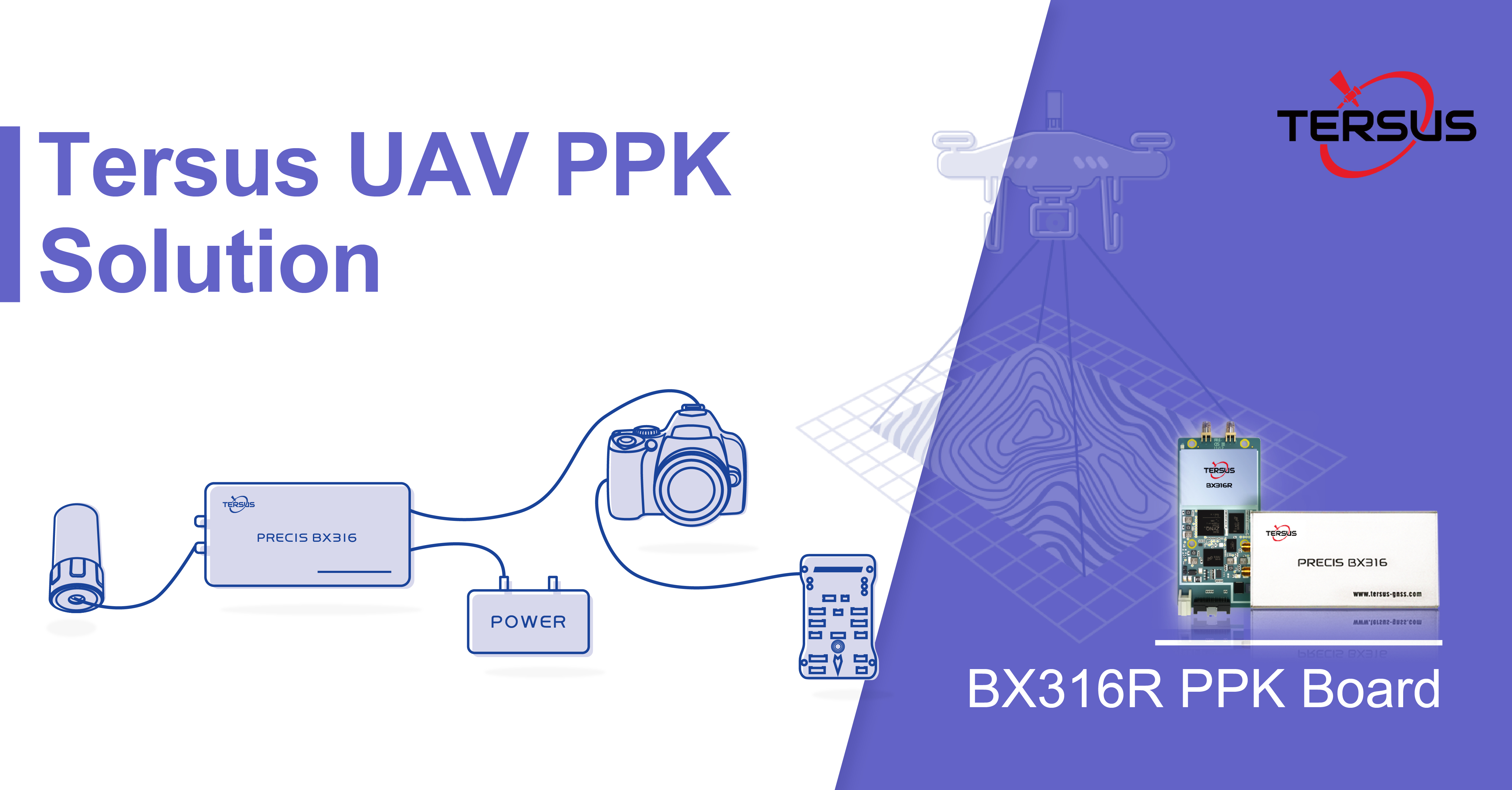 Tersus introduces a practical solution for UAV PPK applications