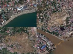 satellite images of Indonesia earthquake and tsunami