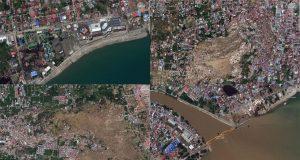 satellite images of Indonesia earthquake and tsunami
