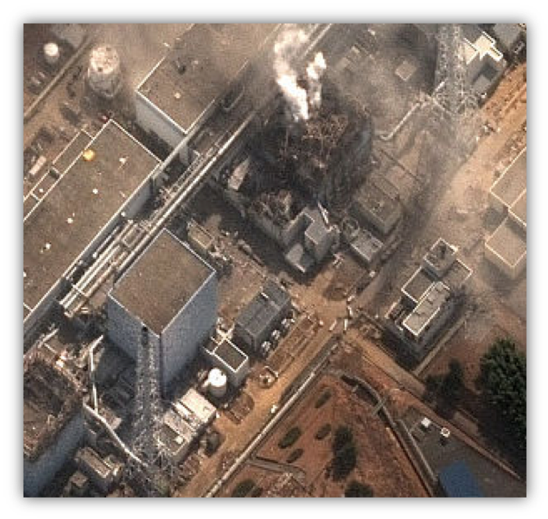 DigitalGlobe took this picture of Fukushima nuclear plant 3 minutes after the first explosion on Mar 11, 2011.