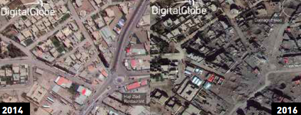 Liberation of Ramadi from ISIS: Pre and post images show widescale devastation.
