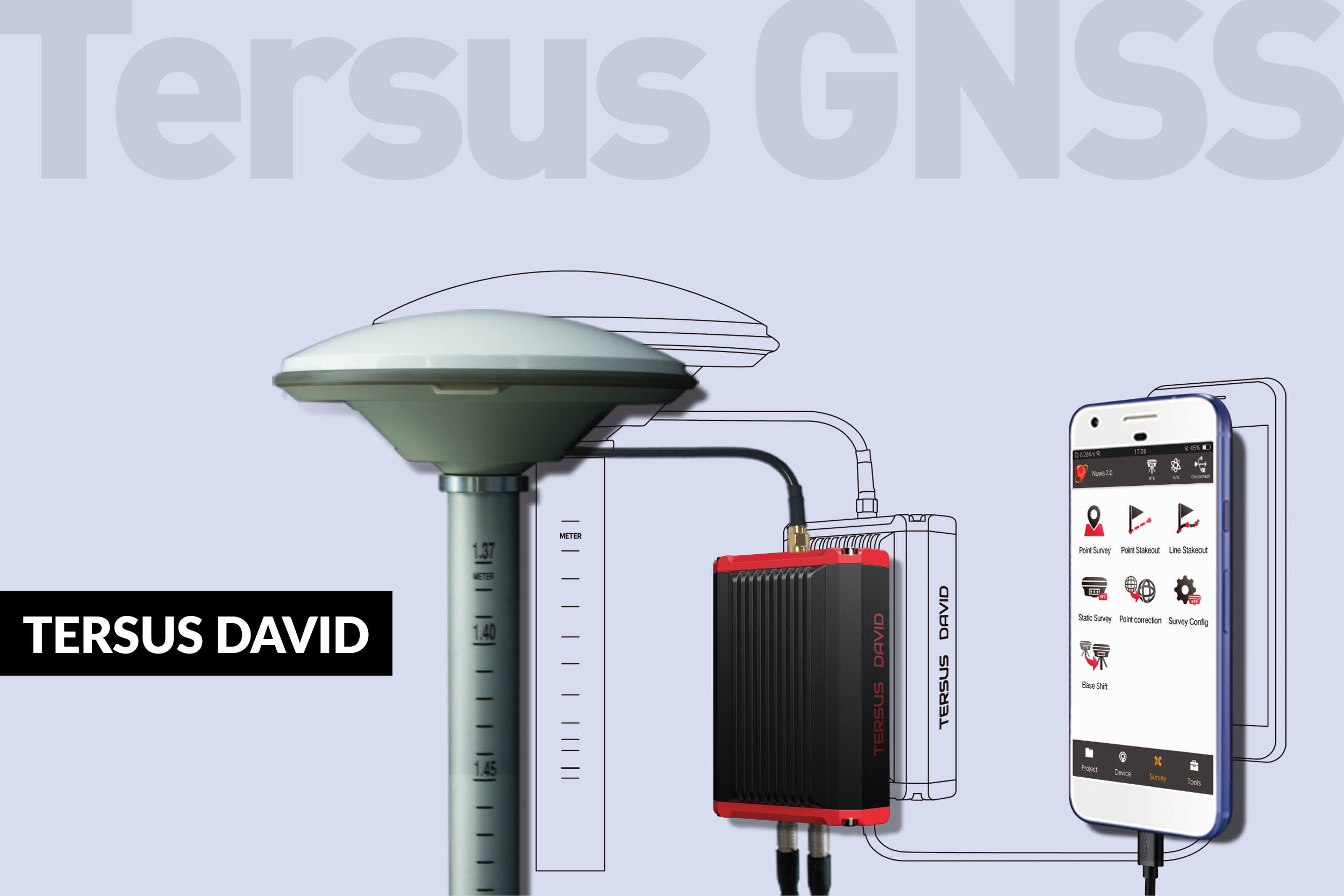 Tersus GNSS launches GNSS receiver Tersus David designed for