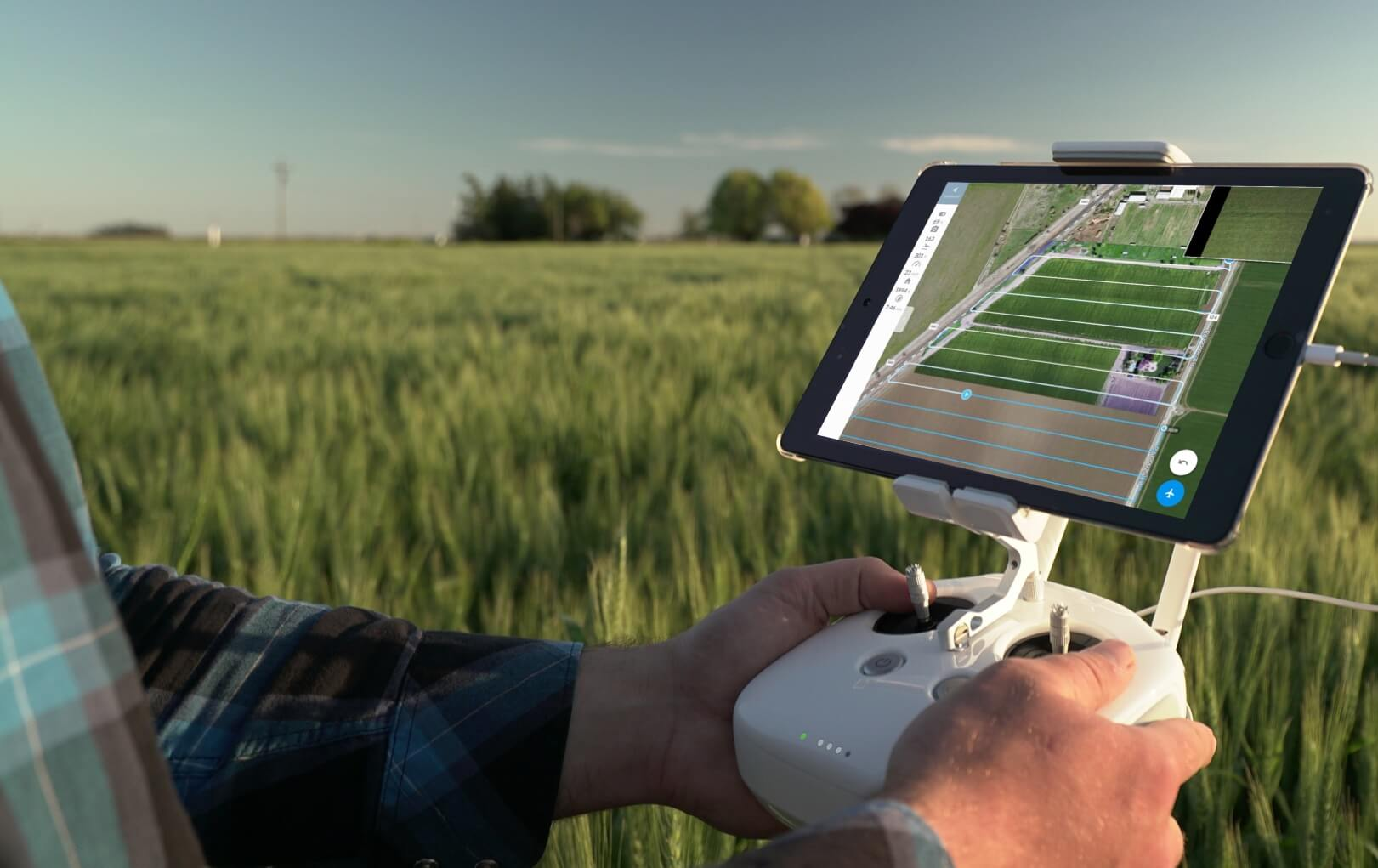 What are outputs of aerial surveying using drone?