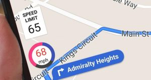 Google Maps' Speedometer
