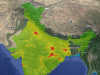 Satellite imagery India environmental