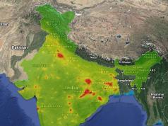 Satellite imagery India environmental