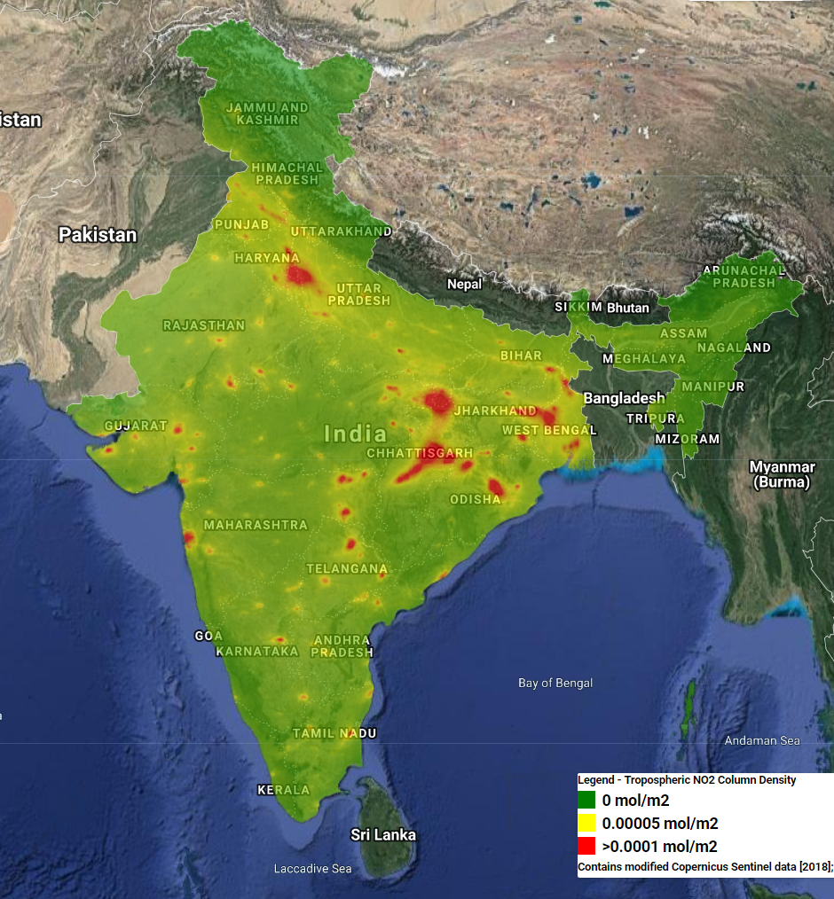 latest satellite map of india Satellite Imagery Shows India S Changing Environment Geospatial latest satellite map of india