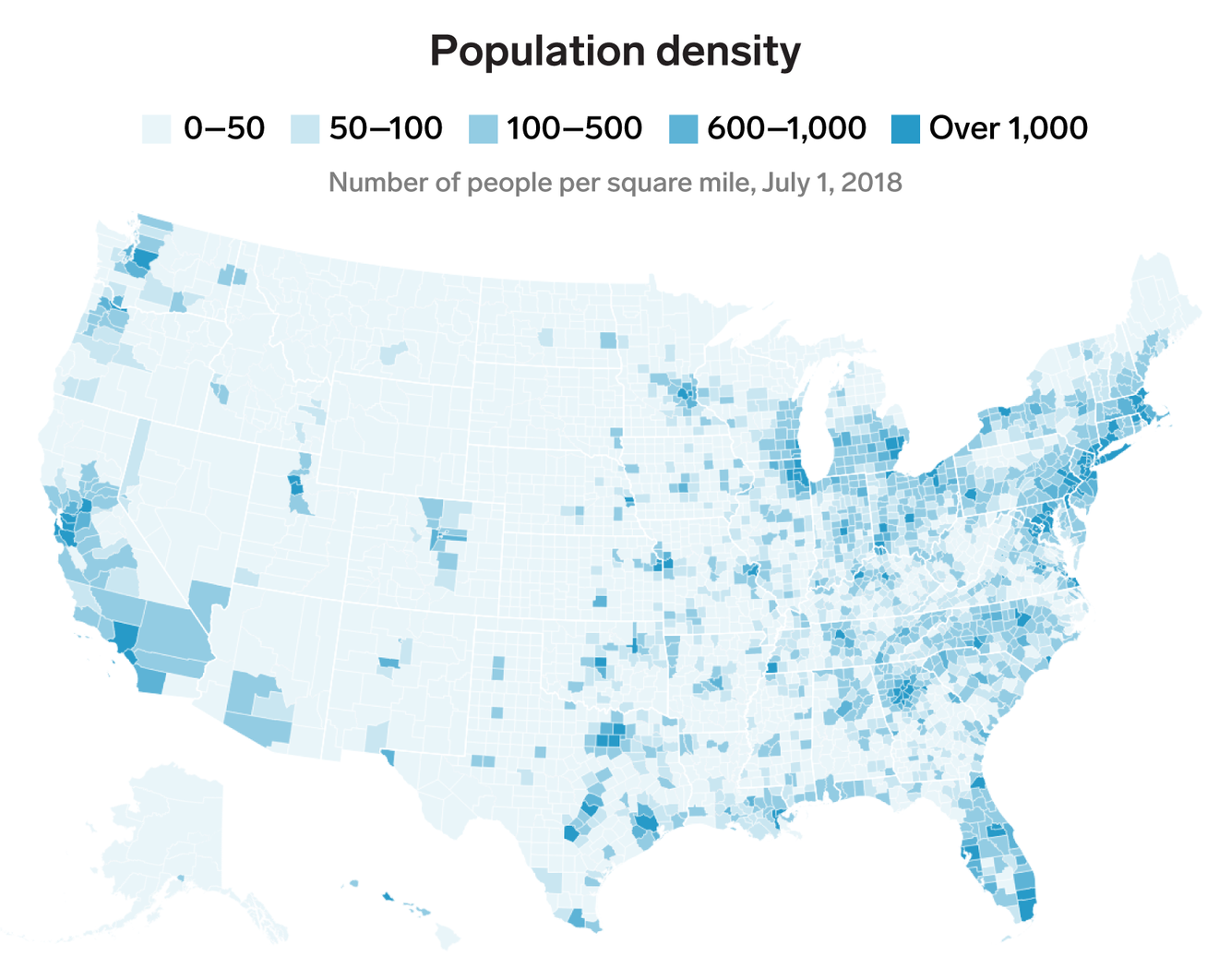 Us Population Density Map 2019 On Independence Day, 8 maps highlight splendid diversity in USA