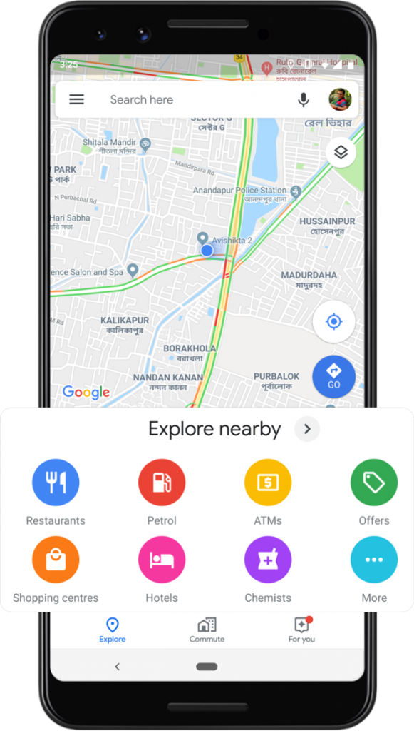 New Google Map India features