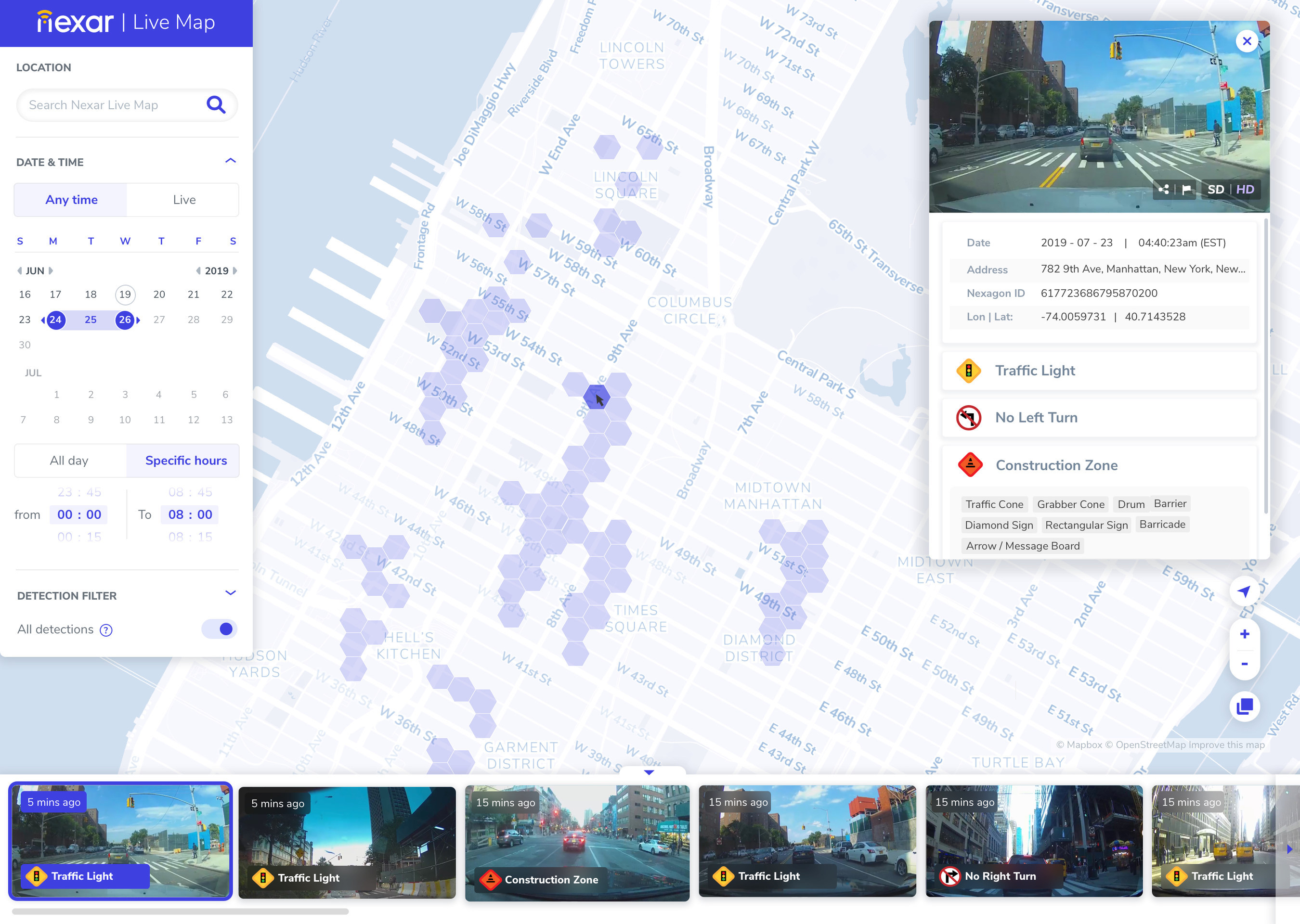 Nexar announces the launch of Live Map on