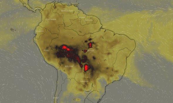 Satellite images show devastating Amazon rainforest fire ... on amazon forest colombia, amazon forest ecuador map, amazon forest peru, amazon forest brazil map, amazon forest in south america, amazon forest on map, amazon forest world map,
