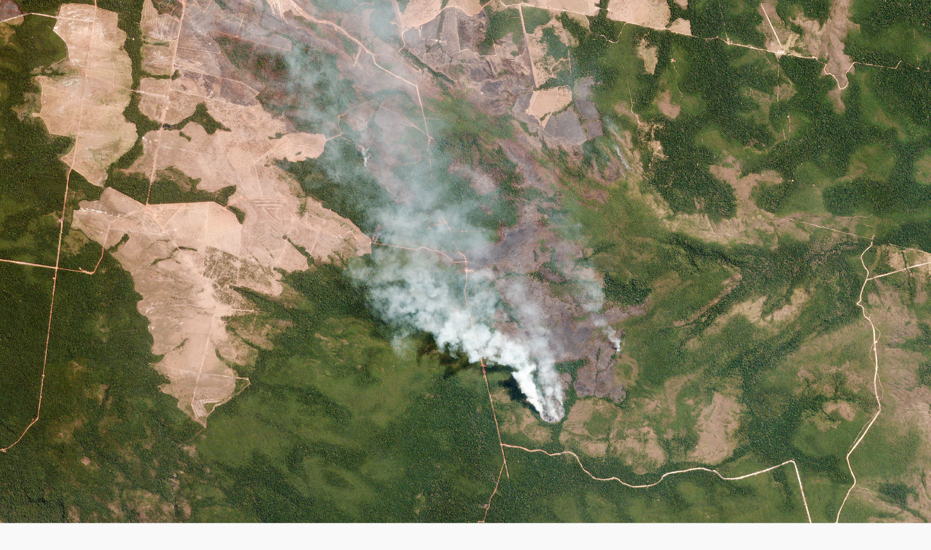 Satellite images show devastating Amazon rainforest fire