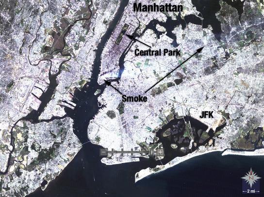 9/11恐怖事件卫星图片