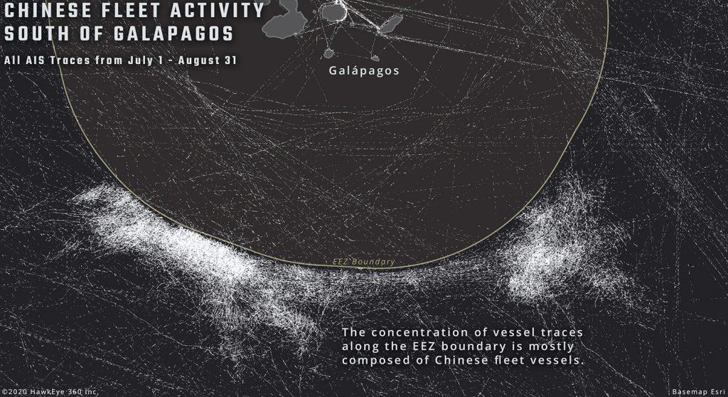 Satellite data China Galápago