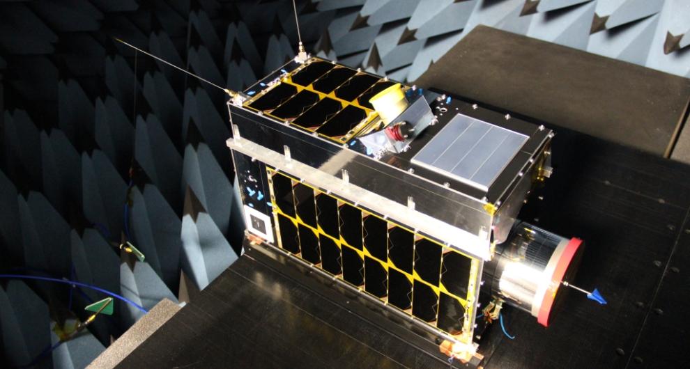 Smallest methane emission satellite