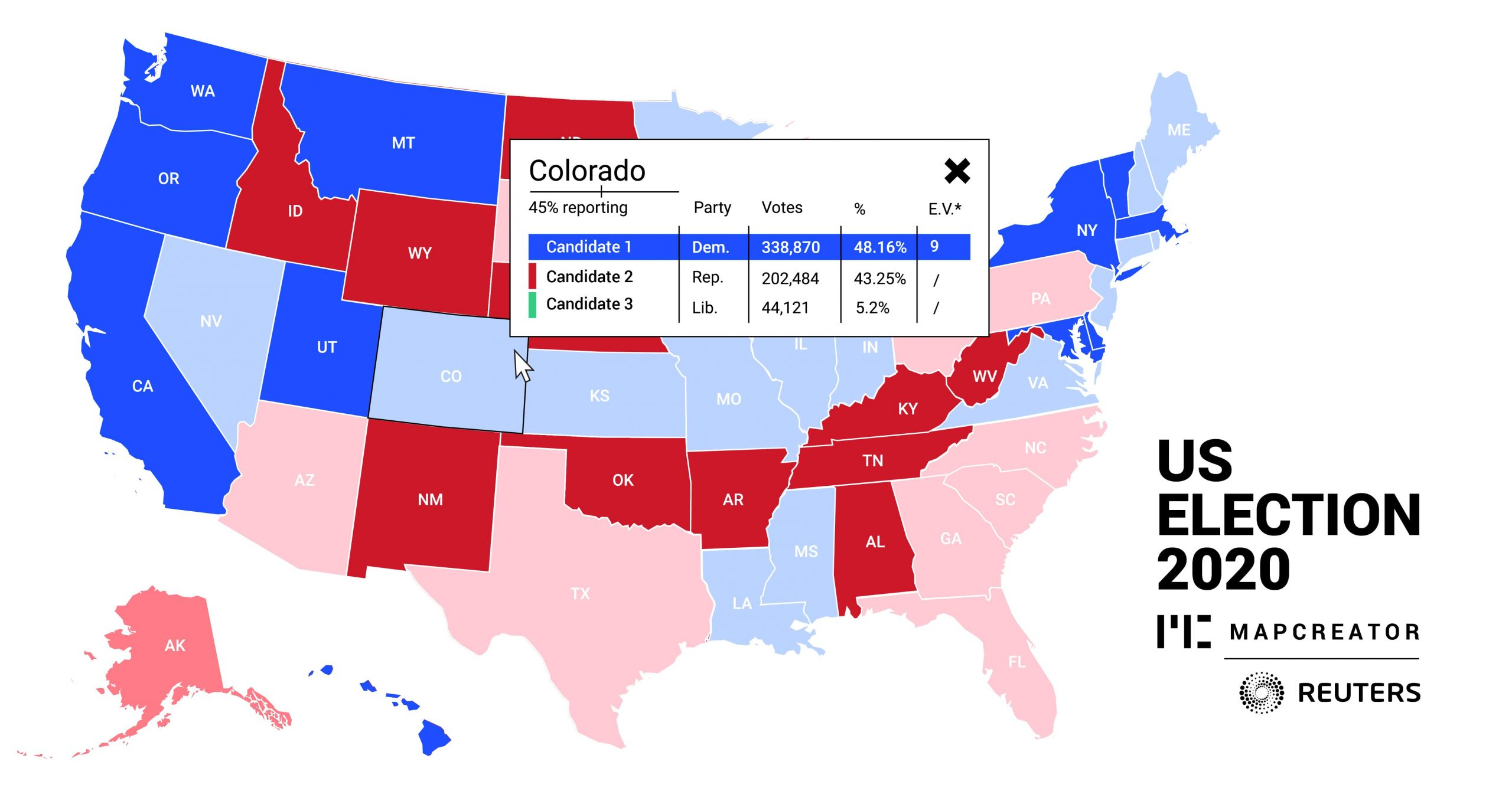 Picture of: Us Elections Reuters Ties Up With Mapcreator To Offer Customized Map Tools For Users